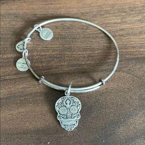 Alex and Ani silver calavera bracelet